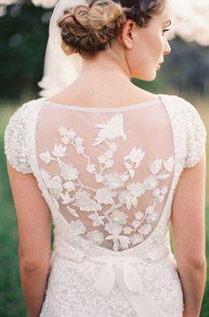Karen Willis Holmes wedding dress back