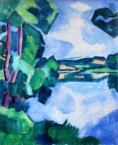Vltava u Ouholic, 1922 Fauvism, Still Life, Modern Art, Oil, Graphic Design, Artists, Landscape, Canvas, Illustration