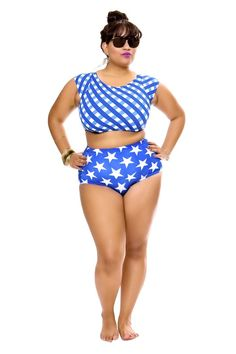Adrienne Star High Waisted Bikini