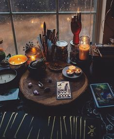 Tarot cards home witch kitchen witchy rustic