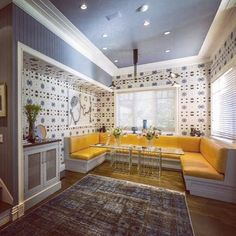 Whoa! Look at this room featured in the @latimes with out #galileoGlass #wallpaper !  Reposted from @walnutwallpaper #eskayel