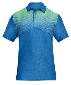 Under Armour Men's Playoff Performance Cross Stripe Golf Polo - Blue XXL Black Polo Shirt, Polo Blue, Printed Polo Shirts, Golf Polo Shirts, Under Armour Men, Polo Ralph Lauren, Mens Fashion, Mens Tops, Cotton