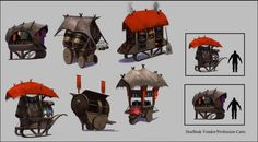 Norn Carts and Crafter Stations