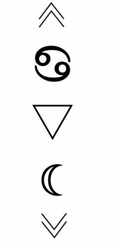 Simbolo Cancer, símbolo agua y el planeta luna ♋♥
