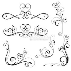 heart scroll design royalty-free heart scroll design stock vector art & more images of backgrounds Tambour Embroidery, Embroidery Patterns, Quilt Patterns, Flora Design, Arabesque, Lizzie Hearts, Work Images, Scroll Design, Pattern Drawing
