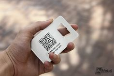 custom bottle opener business cards with screen printed qr code metalbusinesscards bottleopeners metal - Bottle Opener Business Cards