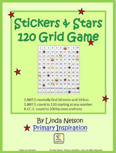FREE   Stickers and Stars 120 Chart game, CCCS-aligned.