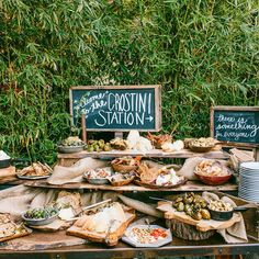 antipasto + crostini wedding food station - bridesof adelaide