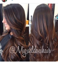 Love the color and her hair is gorgeous!