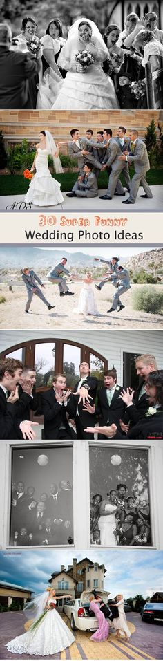 30 super funny wedding photo ideas: