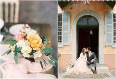 Pastel color wedding in Lake Como