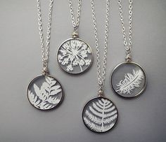Cut Paper Necklaces  Original Handcut Paper in von SarahTrumbauer
