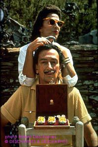 Port Lligat 1968. the wedding present, egges by Fabergé. As Gala, Paul Eluard's wife, was not divorced, the couple had to wait the death of Paul to unified religiously..