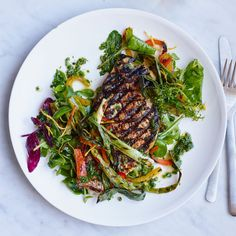 Day 5: Grilled Snapper with Four-Herb Gremolata | Temperatures are up and the sun is out, which means grilling season is upon us. From perfectly-seared steaks to smoky sangria, here are 30 days' worth of essential grilling recipes.