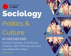 Sociology, politics and culture are inextricably linked – at least in practice, if not always in theory. I don't think we can have one without the others. San Jose State University, Different Types Of People, Anti Smoking, Career Planning, Social Activities, Global Warming, At Least, Politics, Teaching