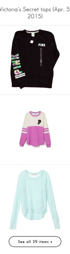 """""""Victoria's Secret tops (Apr, 5, 2015)"""" by dancer11forever ❤ liked on Polyvore featuring tops, Victoria, tanks, outerwear, jackets, shirts, pink, black, pink jacket and victoria secret jacket"""