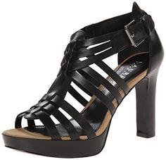 79a6bfb495d07a Lauren Ralph Lauren Womens Safia Platform Sandal Black Burnished Vachetta  75 B US    Read