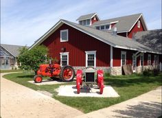 Have you seen our new tractor display yet? -- courtesy of Andrew's Eagle Scout project #tractors #glenview