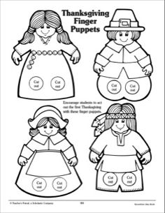 Thanksgiving Finger Puppets: Patterns