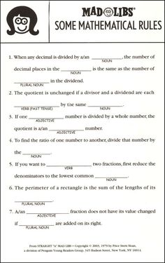 Excellent and Mature mad libs all