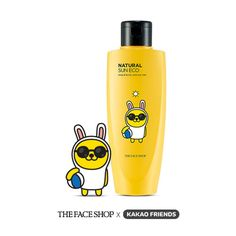 THEFACESHOP x KAKAO FRIENDS Edition Natural Sun Eco Bady & Family Mild Sun Milk  #THEFACESHOP