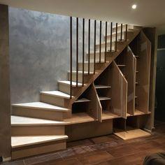 Staircase For Mezzanine Fashion Designs With Staircase . Home Stairs Design, Home Design Decor, Interior Design Living Room, House Staircase, Modern Staircase, Staircase Pictures, Yoga Room Design, Restaurant Design, Escalier Design