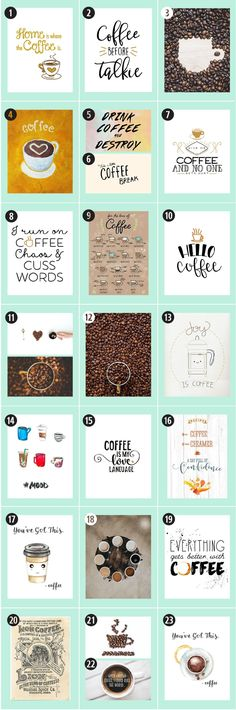 180+ Coffee Free Printables: The Ultimate Guide • Little Gold Pixel • Find the motherlode of curated coffee printables here. Click through to see more! #CoffeeArt