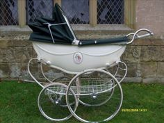 Royale of London advertised they made the worlds most beautiful baby carriage, they certainly did and are in my top I always find when you dismantle a pram, you can tell the quality by. Pram Stroller, Baby Strollers, Silver Cross Prams, Vintage Pram, Prams And Pushchairs, Baby Prams, Baby Carriage, Vintage Coach, Durham