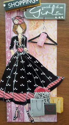 Made by Tamara Lewis. Prima Paper Dolls, Prima Doll Stamps, Kirigami, Magazine Collage, Hand Made Greeting Cards, Valley Of The Dolls, Fused Glass Art, Artist Trading Cards, Doll Crafts