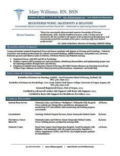 Healthcare (Nursing) Sample Resume | Get a Job | Pinterest ...