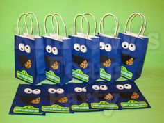 cookie Monster party bag