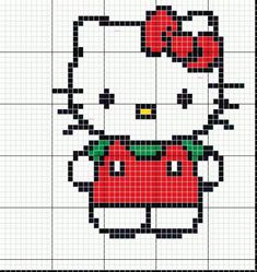 Coloriage Hello Kitty en salopette rouge
