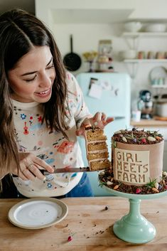 molly yeh's girl meets farm premiere cake! peanut butter cup cake <3