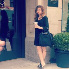 NYFW, Grabbing a coffee before heading to the Lincoln Center  http://themontrealfashionblog.com/archives/4023
