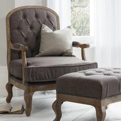 Esta Button Back Dove Grey Chair