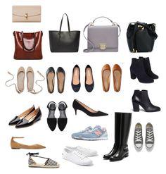 """Shoes n Bags"" by elizabethsungte on Polyvore featuring Dolce&Gabbana, Yves Saint Laurent, Smythson, Michael Kors, Aéropostale, Rupert Sanderson, Jimmy Choo, Monsoon, Giuseppe Zanotti and J.Crew"