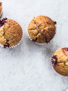 Loganberry & Cornmeal Muffins / Top with Cinnamon