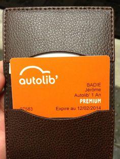 Badge abonné Autolib' 1 an - Premium