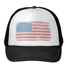Shop Vintage American Flag Trucker Hat created by tshirtjournal. Personalize it with photos & text or purchase as is! Irish Hat, Funny Hats, Black Snapback, Hats Online, Custom Hats, American Flag, American Girl, World War, Baseball Hats