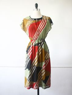 Connect the Ties Japanese Vintage Dress https://www.etsy.com/listing/159572664/japan-vintage-dress-70s-dress-connect?ref=shop_home_active #vtg #vintage #fashion #dress #vintagefashion #vintagedress