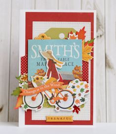 """""""Autumn"""" card - free project download - by Anya Lunchenko for #CartaBellaPaper"""
