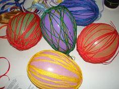 παιχνιδοκαμώματα στου νηπ/γειου τα δρώμενα: αβγά....με κλωστή !!! Easter Eggs, Blog, Blogging