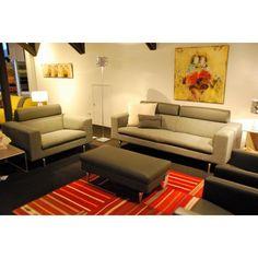 Leolux Horatio bank, fauteuil en pouf (set)