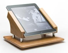 The original wood iPad stand for the Square payment system, point of sale, cash register, Intra-Stand. $176.00, via Etsy.