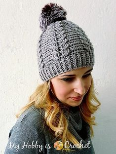 1237b2a81ab Chic Cable Beanie pattern by Kinga Erdem. Crochet Hat ...