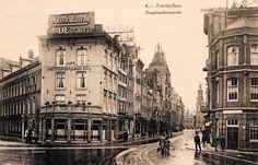 Het Rembrandtplein omstreeks 1930 bij de Reguliersbreestraat