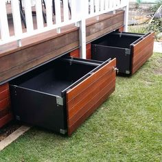 deck ideas on a budget ; deck ideas for above ground pools ; deck ideas on a budget backyard ; deck ideas on a budget decorating ; deck ideas on a budget diy Under Deck Storage, Patio Storage, Storage Stairs, Deck Ideas With Storage, Outdoor Storage Boxes, Hidden Storage, Extra Storage, Backyard Patio Designs, Pergola Patio