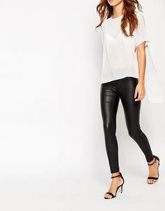 Image 4 ofNew Look Petite Coated Skinny Jean