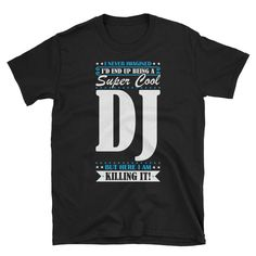 This shirt makes a perfect gift for a lucky Dj #DjShirt #DjGifts #Dj #GiftsForDj #DjTshirt #FunnyGiftForDj #DjGift #FunnyDjShirt #DjPresent #GiftForDj