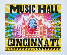 Cincinnati Music Hall | Steam Whistle Letterpress